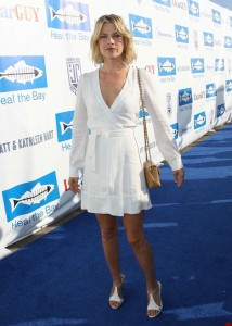 Ali Larter in white dress