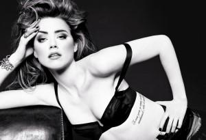 Amber Heard bra
