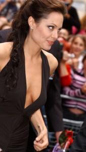 Angelina Jolie nipple slip
