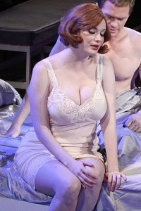 Christina Hendricks sexy bra