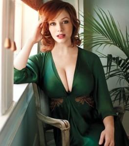 Christina Hendricks sexy dress
