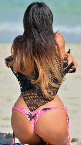 Claudia Romani on beach