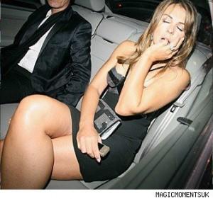 Elizabeth Hurley drunk sexy