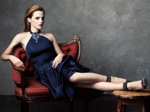 Emma Watson blue dress