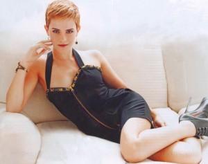 Emma Watson on sofa