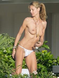 Heidi Klum leaked topless