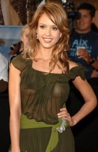 Jessica Alba boobs slip