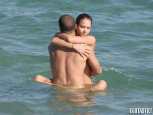 Jessica Alba with boyfriend