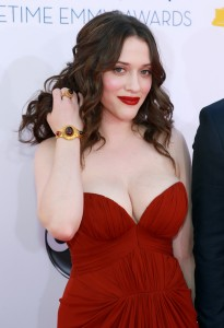 Kat Dennings sexy red dress
