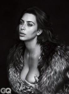 Kim Kardashian bra GQ