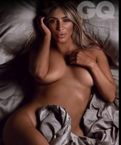 Kim Kardashian naked GQ