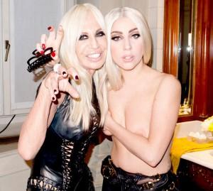 Lady Gaga and D Versace nipslip