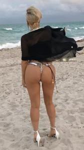Lady Gaga thong bikini