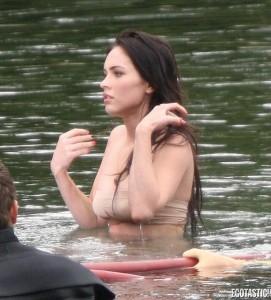 Megan Fox wet swimsuit