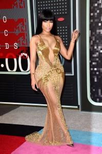 Nicki Minaj sexy golden dress