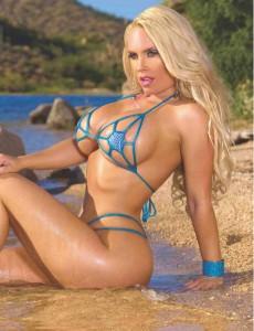 Nicole Coco Austin blue bikini