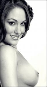 Nikki Bella naked bw