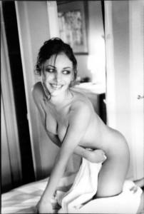 Olga Kurylenko naked bw photo