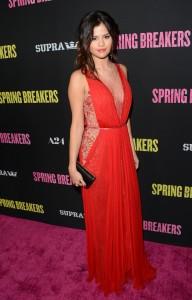 Selena Gomez red sexy dress
