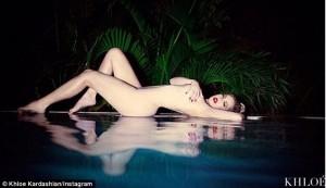 Khloe Kardashian naked pool