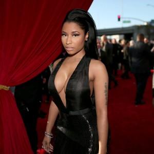 Nicki Minaj big cleavage