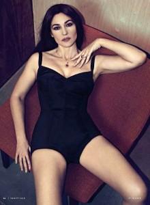 monica belucci on sofa