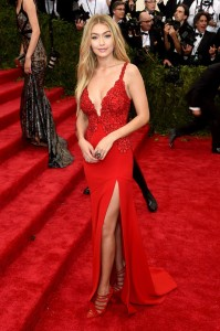 Gigi Hadid sexy red dress