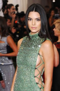 Kendall Jenner on stage sexy dress
