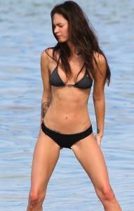 Megan Fox black hot bikini
