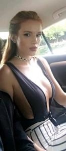 Bella Thorne at car