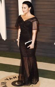 Demi Lovato black dress