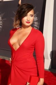 Demi Lovato good nipslip