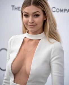 Gigi Hadid busty cleavage