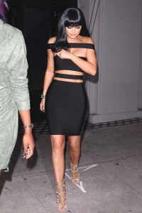 Kylie Jenner in sexy black dress