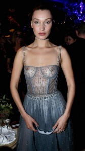 Bella Hadid see through nips