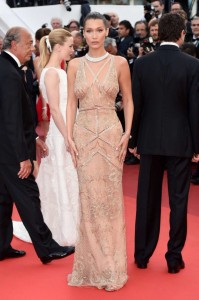 Bella Hadid sexy see through dress