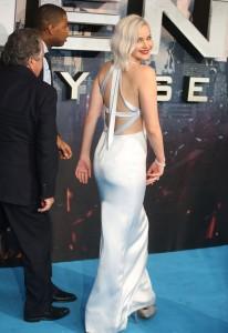 Jennifer Lawrence sexy dress back