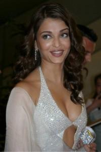 Aishwarya Rai sexy dress nip lsip