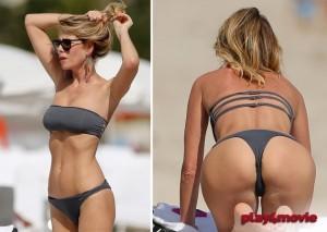 Alessia Marcuzzi beach paparazzi ass