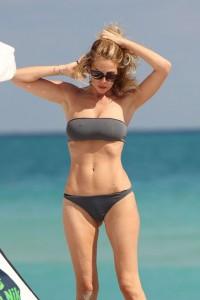 Alessia Marcuzzi see through bikini