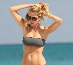 Alessia Marcuzzi see through swimsuit