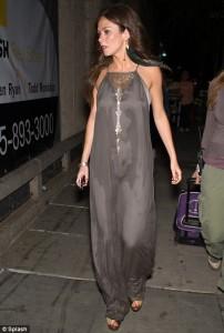 Anna Friel hot silk dress