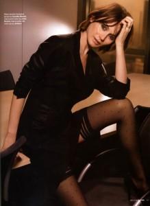 Emily Mortimer sexy pantyhose