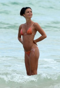 Gabrielle Anwar bikini