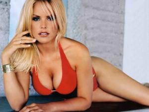 Gena Lee Nolin sexy red bikini