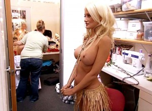 Holly Madison nude in dressing room