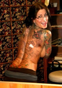 Janine Lindemulder tattoo