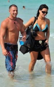 Jenni Jwoww Farley beach paparazzi