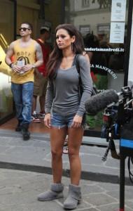 Jenni Jwoww Farley paparazzi on street