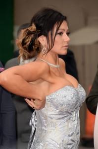 Jenni Jwoww Farley paparazzi oops